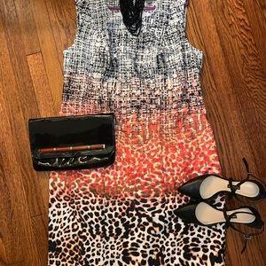 NWOT Gorgeous Jessica London Multi-print Dress